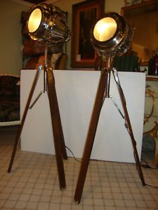 Tripod Floor Lamp Tall Light Architectural Spot Light