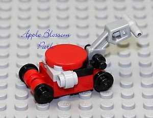 New Lego City Red Black Gray Lawn Mower Minifig Minifigure Garden Yard Tool