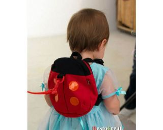 Baby Toddler Kids Boys Girls Children Walking Safety Rein Harness Ladybug Bag