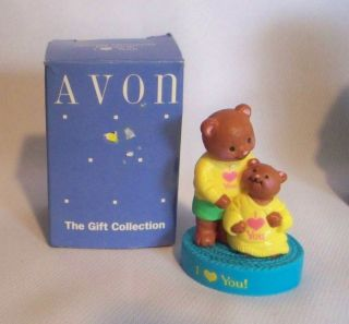 "Avon Gift Collection Special Moments Figurine ""I Love You"" Teddy Bear 1992"