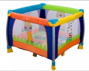 Delta Childrens Fun Time 36 x 36 Playpen Play Yard Baby Tall Sides Colorful