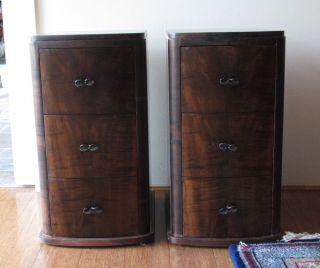 Antique Art Deco Bedside Tables Chest Drawers AU$ Melb