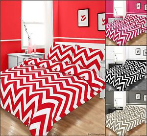 Bedding Zig Zag Duvet Cover Quilt Duvet Cover Set with Pillowcase Red Black Pink
