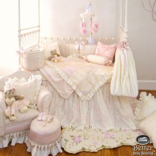 Glenna Jean Baby Girl Pink Designer Crib Nursery Bedding Quilt Set Accessories