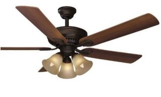 Hampton Bay Campbell 52 inch Ceiling Fan with Remote Control Light Kit Bronze