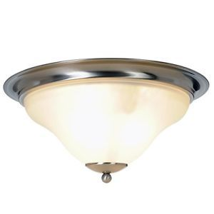 Three Light Brushed Nickel Flush Mount Ceiling Fixture