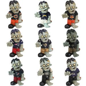 NFL Zombie Garden Gnome New Select Your Team