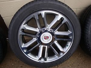 Cadillac Escalade ESV Ext 22 Wheels Tires Factory OEM Genuine GM Platinum New