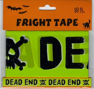 "Haunted House Halloween Prop Fright Tape 3X 30' ft Long ""Dead End"" New"
