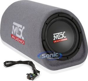 "MTX Audio RT8PT Single 8"" Road Thunder Loaded Subwoofer Enclosure Box"