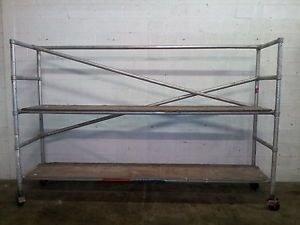 Scaffolding Portable Scaffold 10 ft Long 8 ft H 2 ft Wide Aluminum