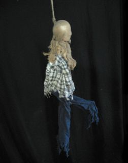 Animated Hanging Man Kicking Legs Sound Scary Halloween Party Prop 3 Feet Long