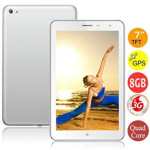 "New 7"" 3G Dual Sim HD Quad Core Android 4 1 Tablet Phone Phablet 1GB 8GB GPS"