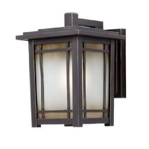 Hampton Bay Port Oxford Wall Mount 1 Light Outdoor Lantern Oil Rubbed Chestnut