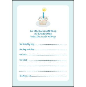 10 Childrens Birthday Party Invitations 1 Year Old Boy Nice Bpif 15 Cup Cake