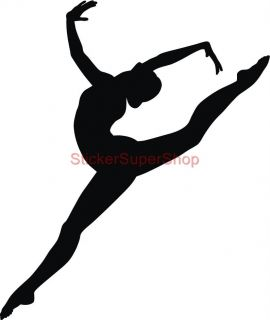Gymnast Silhouette Decal Removable Wall Sticker Home Decor Art Gymnastics Dancer