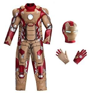 New  Marvel Avengers Iron Man 3 Deluxe Costume Boys