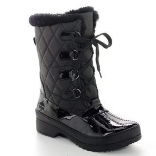 Totes Claudia Womens Black Comfort Winter Snow Boots