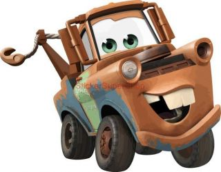 Tow Mater Cars Disney Decal Removable Wall Sticker Home Decor Art Movie Kids