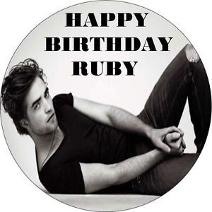"Twilight Robert Pattinson Edward Cullen Round 7 5"" Edible Icing Cake Topper"