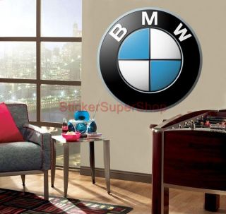 Choose Size BMW Logo Decal Removable Wall Sticker Home Decor Cars 65x65 Cm