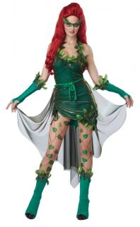 01289 Lethal Beauty Poison Ivy Batman Womens Ladies Halloween Costume s M L 6 12