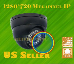 1 Megapixel HD H 264 IP Network IR Camera Poe Network Security Surveillance Dome