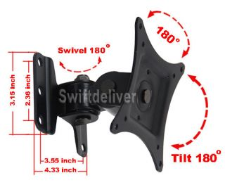 "Tilt Swivel LCD LED TV Monitor Wall Mount 15 17 19 20 22 23 24 26 27"" Vesa CZB"