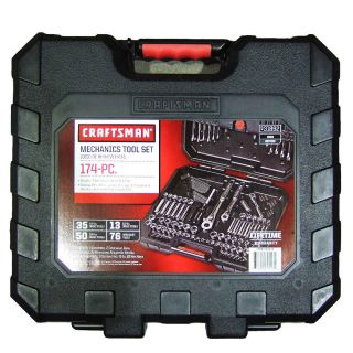 Craftsman 174 Pcs Mechanics Tool Set Socket Wrench Retchit Extension Bar Case