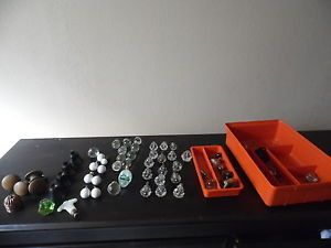 Lot Antique Art Deco Vintage Glass Drawer Pulls Cabinet Dresser Door Knobs