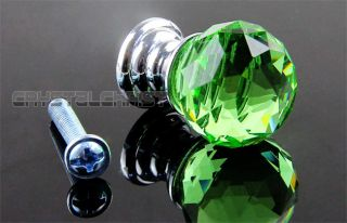 20mm Crystal Glass Handle Knobs Cabinet Cupboard Drawer Door Handles 6 Colors