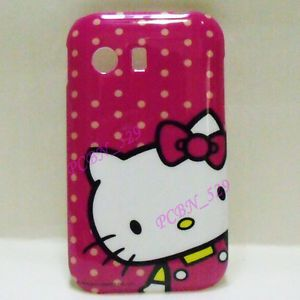 Hello Kitty R Phone Case Screen Protector for Samsung Galaxy Y S5360