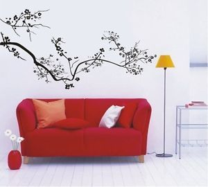 Black Plum Tree Home Art Wall Stickers Removable Vinyl Home Decor