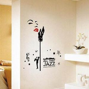 Jazz Style Marilyn Monroe Wall Decals Sticker Home Decor Design Vinyl Removable