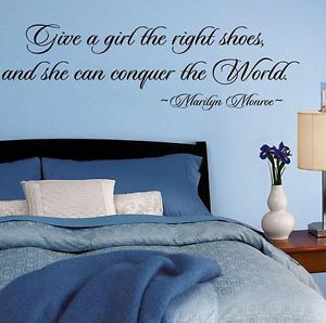 Marilyn Monroe Shoes Vinyl Lettering Wall Decal Words Decor Sticker Home Art
