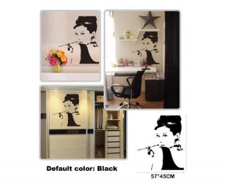 Audrey Hepburn Movies Star Mural Art Wall Stickers Vinyl Decal Home Room Decor