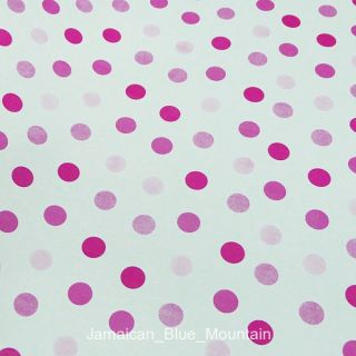 Pink Polka Dots Removable PVC Self Adhesive Wall Contact Paper 5M 16ft