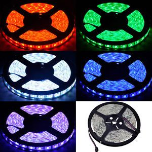 Waterproof 5M 500CM 16ft RGB 5050 SMD LED Strip Light 300Leds 60LED Meter