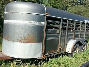 Keifer Built Livestock Trailer 16ft Stock Bumper Pull Horse