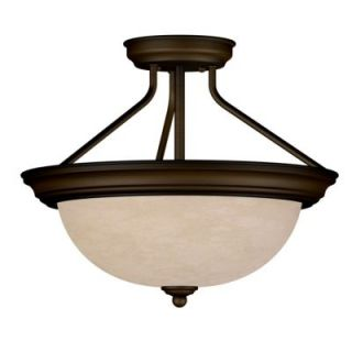 New 2 Light Semi Flush Ceiling Lighting Fixture Bronze