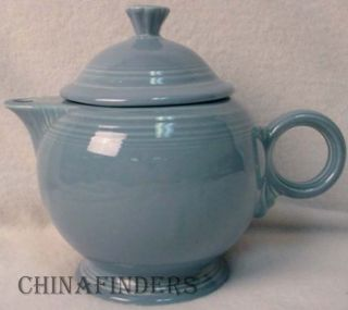 Homer Laughlin China Contemporary Fiesta Periwinkle Blue Teapot Tea Pot Lid