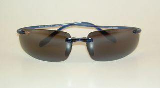 Brand New Authentic Polarized Maui Jim Hurricane Sunglasses Blue Frame 578 03