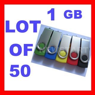 50 X1GB USB Flash Drive Memory Lot Wholesale DHL SHIP