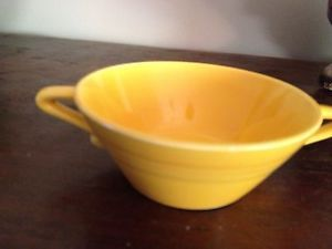 Homer Laughlin Harlequin Vintage Yellow Cream Soup Bowl