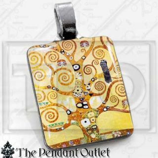 Tree of Life Gustav Klimt Painting Art Charm Necklace