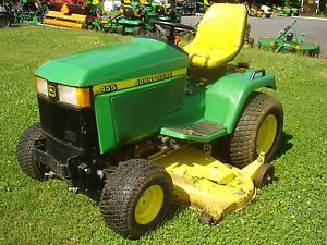 Used John Deere 455 Diesel Lawn and Garden Tractor 60 inch Deck Runs Good