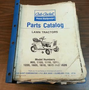 Huge Cub Cadet Lawn Garden Tractor Mower Parts Manual Catalog Repair