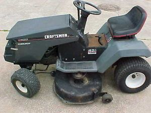 1997 Craftsman LT4000 Riding Tractor Lawn Mower You Tube Video