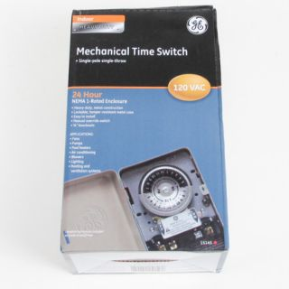 GE Outdoor Series 40 Amp 24 Hour Heavy Duty Mechanical Time Switch 15145