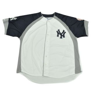 MLB Majestic New York Yankees Button Up Authentic Traditional Baseball Jersey
